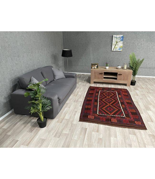 kelim kleed  197 x 124  cm vloerkleed tapijt kelims hand geweven