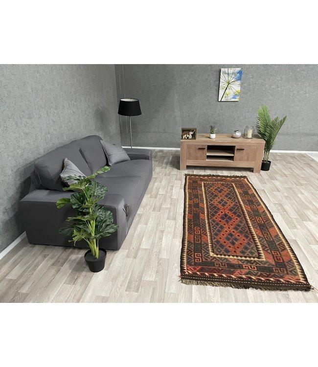 kelim kleed  232 x 99 cm vloerkleed tapijt kelims hand geweven