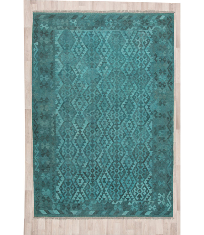 301x202 cm Handgeweven Kelim Tapijt