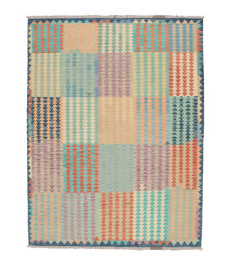 245x184 cm Handmade Afghan modern Kilim Area Rug Wool Carpet