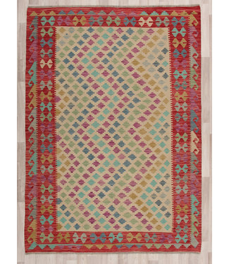 247x172 cm Handmade Afghan modern Kilim Area Rug Wool Carpet