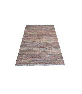 200x129 cm Handgeweven Kelim Streep Wol