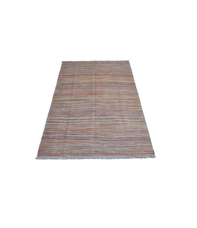 200x129 cm Handgeweven Kelim Tapijt Wol