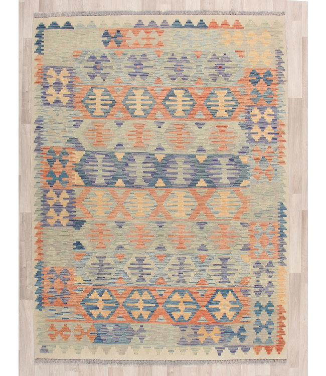 238x172 cm Handgeweven Kelim Tapijt Wol