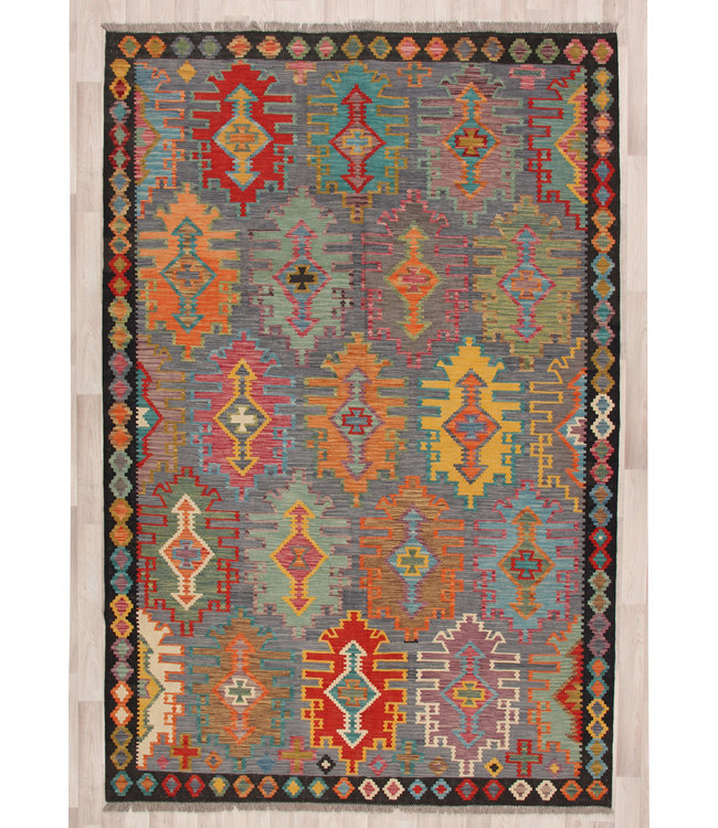300x206 cm Handgeweven Traditionele Kelim Tapijt Wol