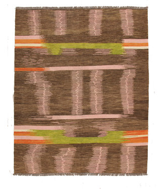 257x200 cm Handmade Afghan modern Kilim Area Rug Wool Carpet