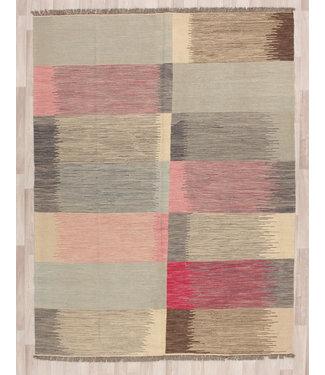 260x198 cm Handmade Afghan modern Kilim Area Rug Wool Carpet