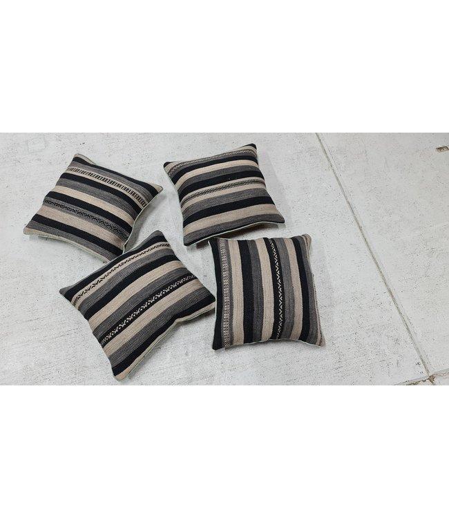 4x kilim cushion cover modern ca 45x45 cm with filling