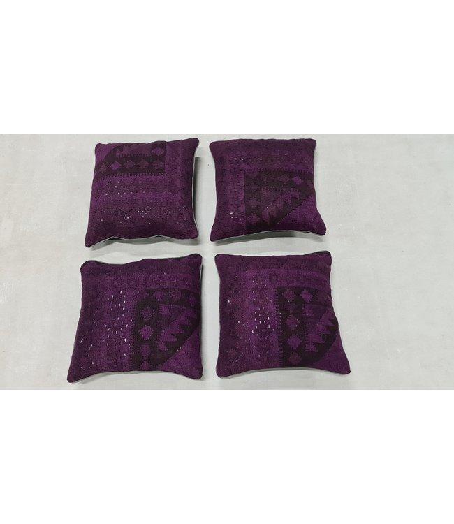 4x kelim kussens traditioneel ca 45x45 cm met vulling