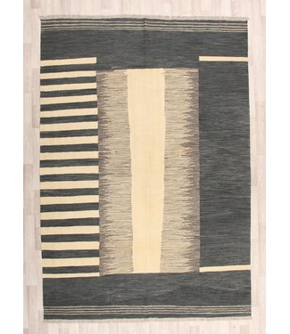 297x205cm Handmade Afghan modern Kilim Area Rug Wool Carpet