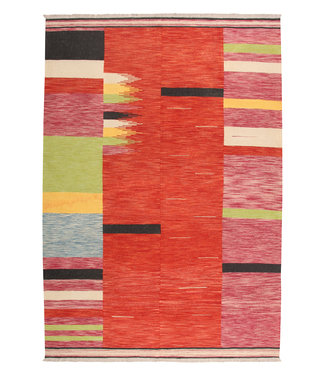 301x208cm Handmade Afghan modern Kilim Area Rug Wool Carpet