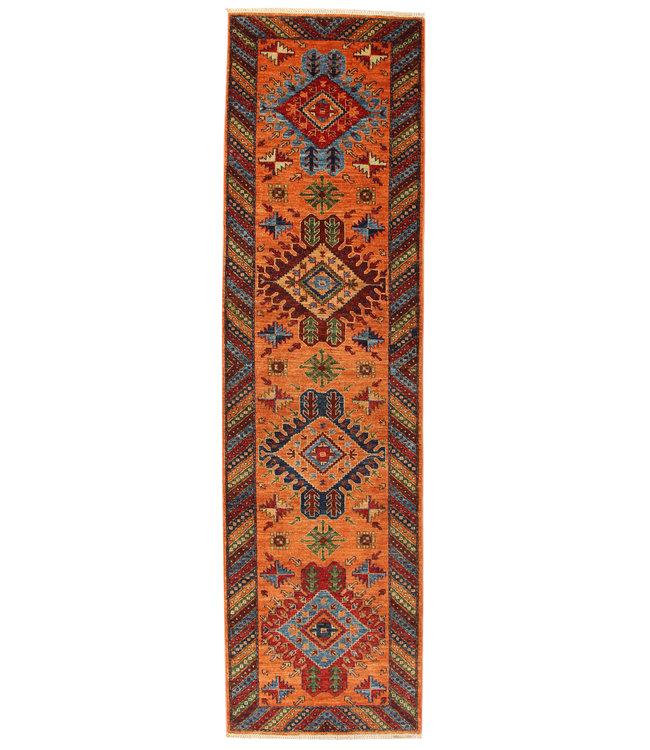 296x81 cm Handgeknoopt Kazak Vloerkleed Wollen Loper Tapijt