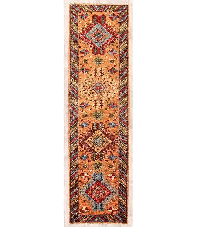297x80 cm Handgeknoopt Kazak Vloerkleed Wollen Loper Tapijt