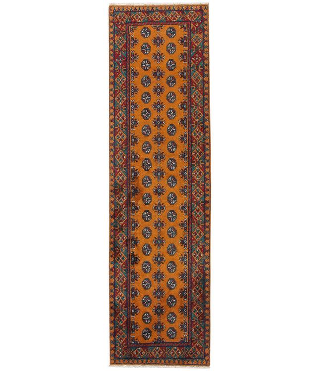 284x79 cm Handgeknoopt Kazak Vloerkleed Wollen Loper Tapijt