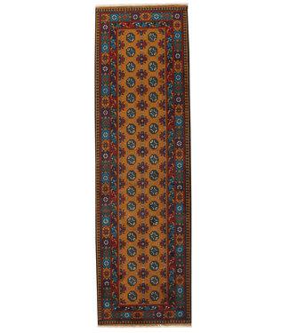 290x85 cm Handgemaakt Traditioneel Aqcha Wollen Oosters Loper Tapijt