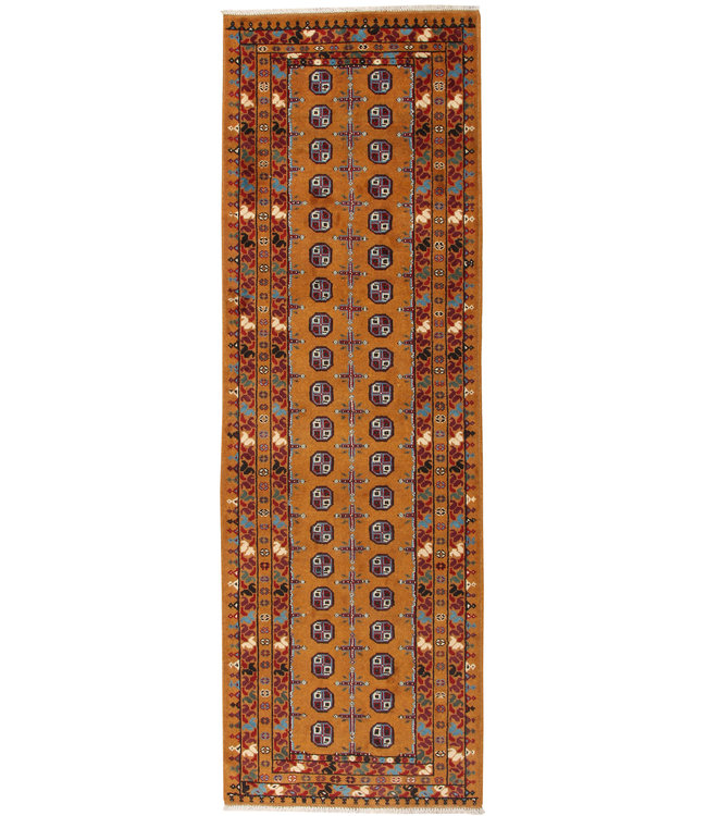 281x90 cm Handgemaakt Traditioneel Aqcha Wollen Oosters Loper Tapijt