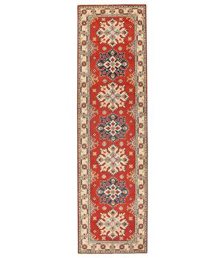 300x83 cm Hand Knotted Kazak Wool Runner Rug Oriental Carpet