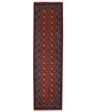 294x80 cm Hand Knotted Traditional Aqcha Wool Oriental Runner Area Rug