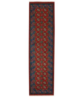 294x80 cm Handgemaakt Traditioneel Aqcha Wollen Oosters Loper Tapijt