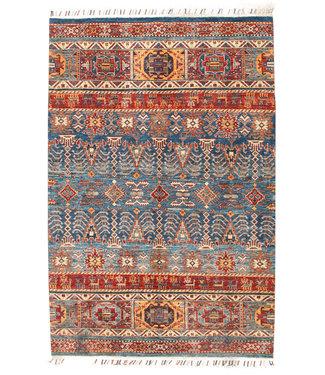 193x127 cm Handgeknoopt Kazak Vloerkleed Wollen Tapijt