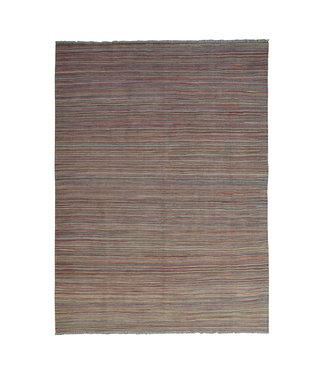 244x177 cm Handgeweven Modern Kelim Tapijt Wol Vloerkleed