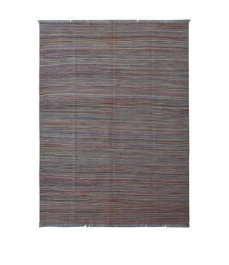 243x178 cm Handgeweven Modern Kelim Tapijt Wol Vloerkleed