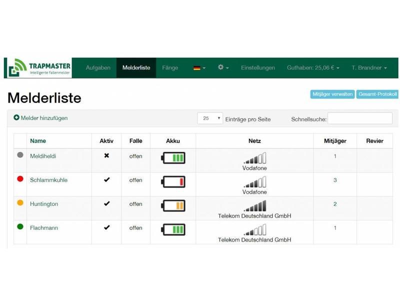 Upgrade vom Basis/Classic Fallenmelder auf TRAPMASTER Professional