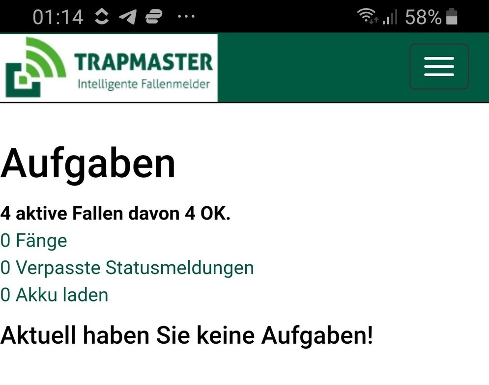 TRAPMASTER App Online-Fallenverwaltung