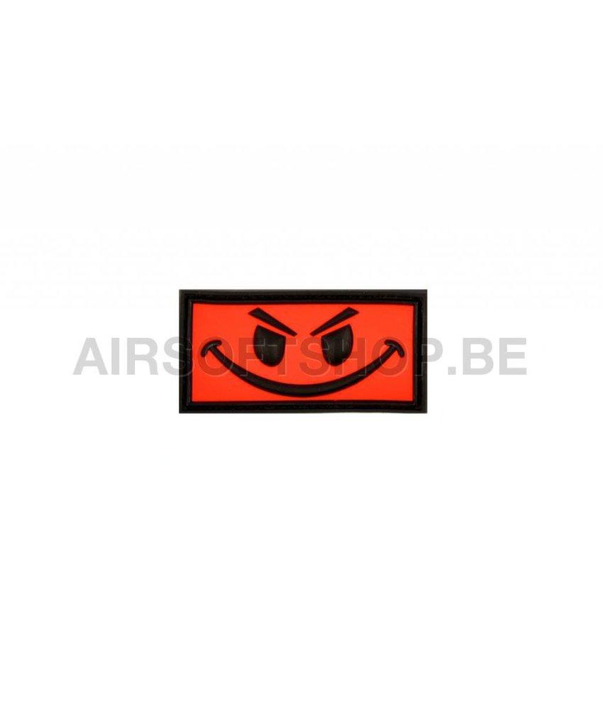 JTG Evil Smiley PVC Patch (Red)
