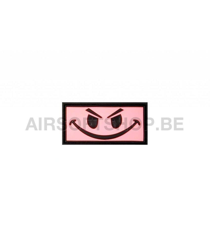 JTG Evil Smiley PVC Patch (Pink)