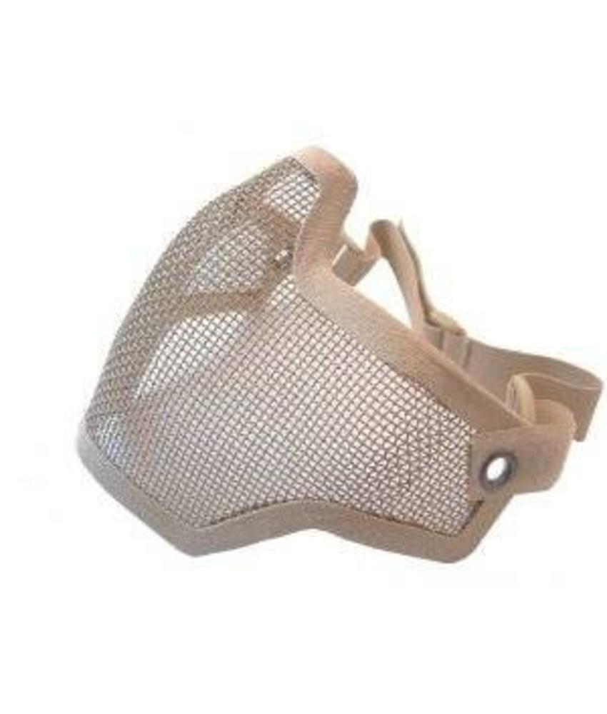 101 Inc Half Face Mesh Mask (Tan)