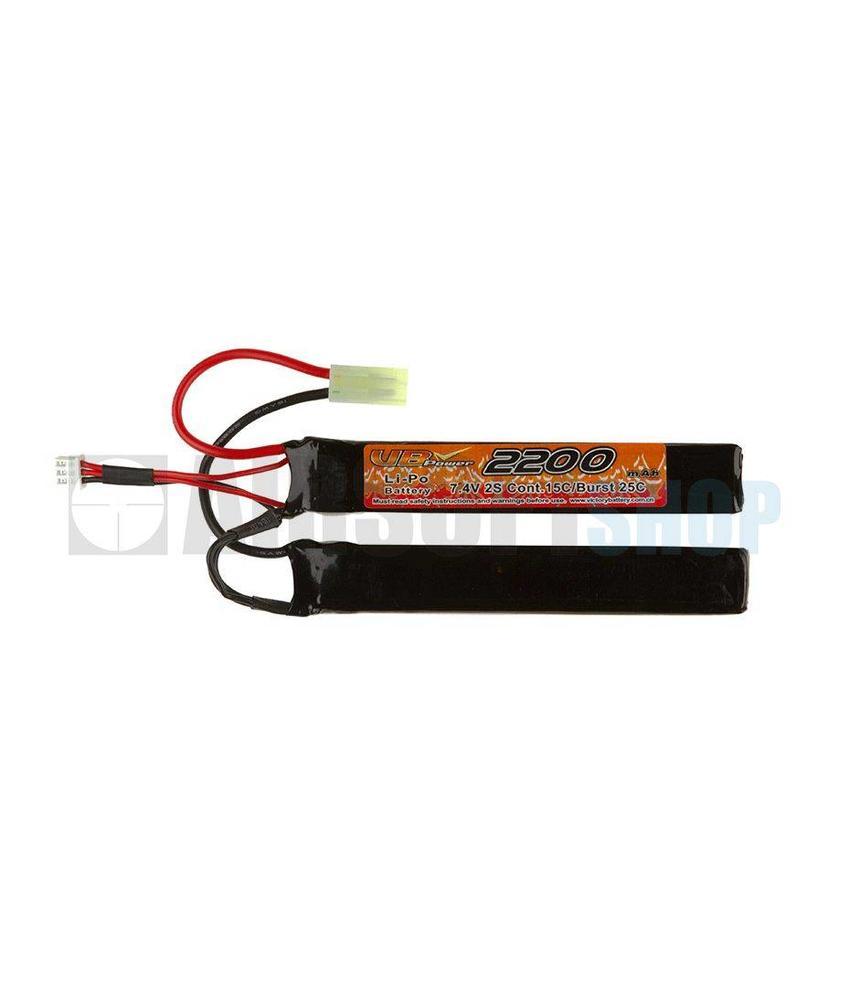 VB Power LiPo 7.4V 2200mAh 15C Twin Type