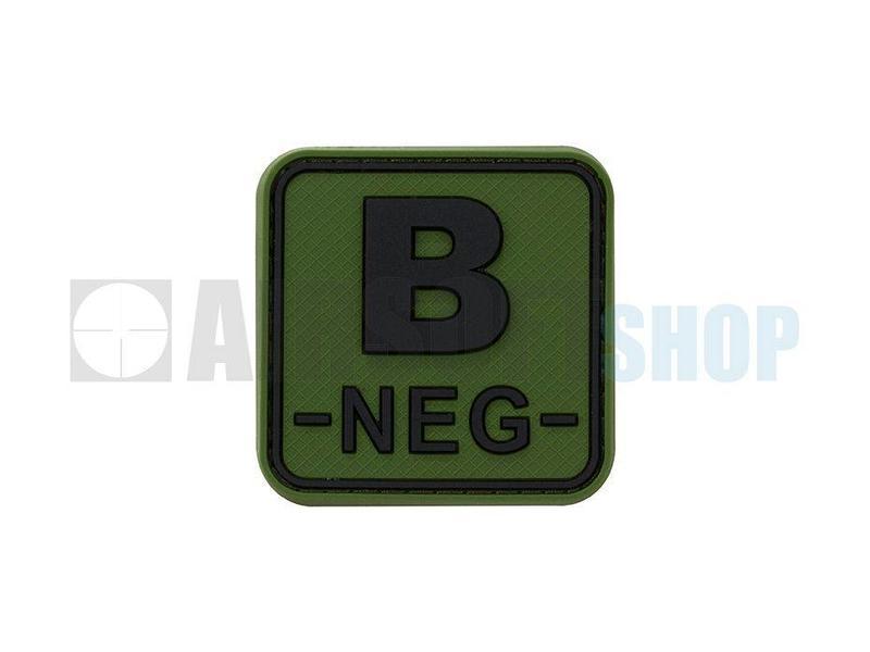 JTG Bloodtype Square PVC Patch B NEG (Forest)