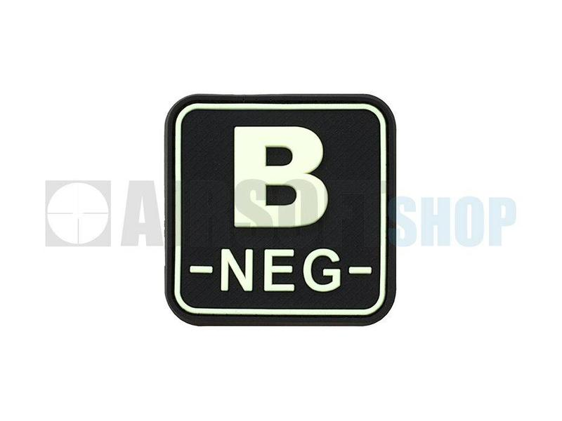 JTG Bloodtype Square PVC Patch B NEG (Glow In The Dark)