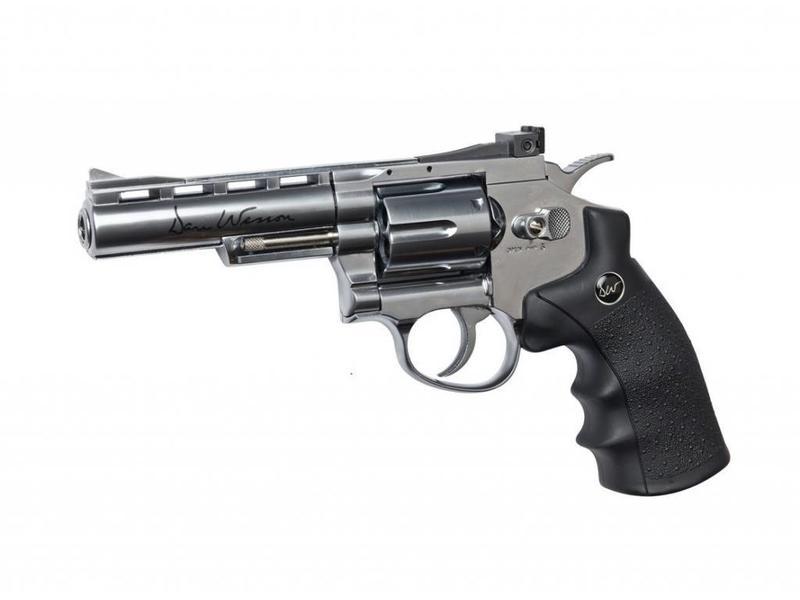 "ASG Dan Wesson 4"" Revolver Chrome (1.8 Joule)"