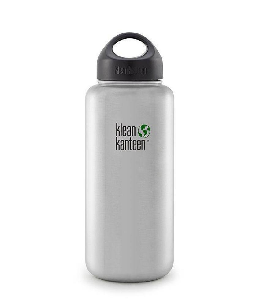 Klean Kanteen Wide 1.2L Drinkfles (Brushed Stainless)