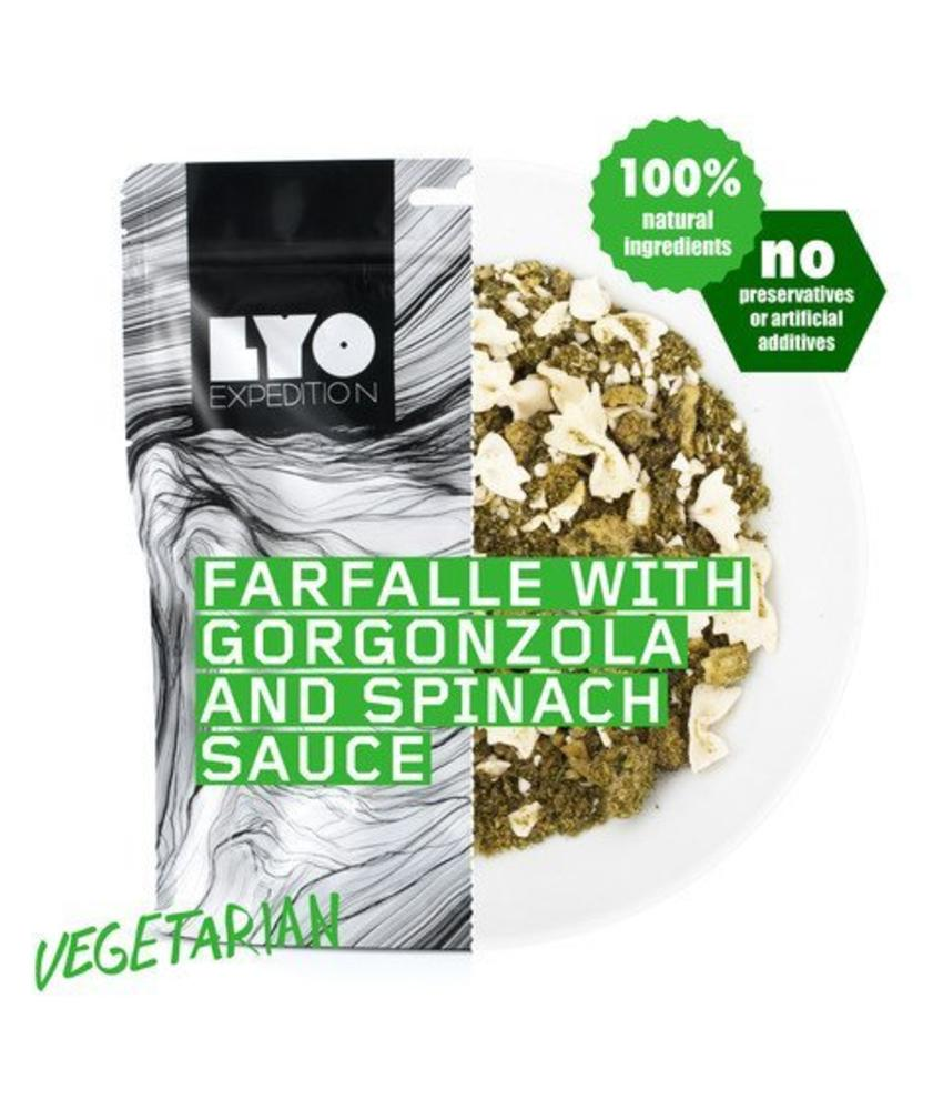 LYO FOOD Farfalle with Gorgonzola and Spinach Sauce (Vegetarian)