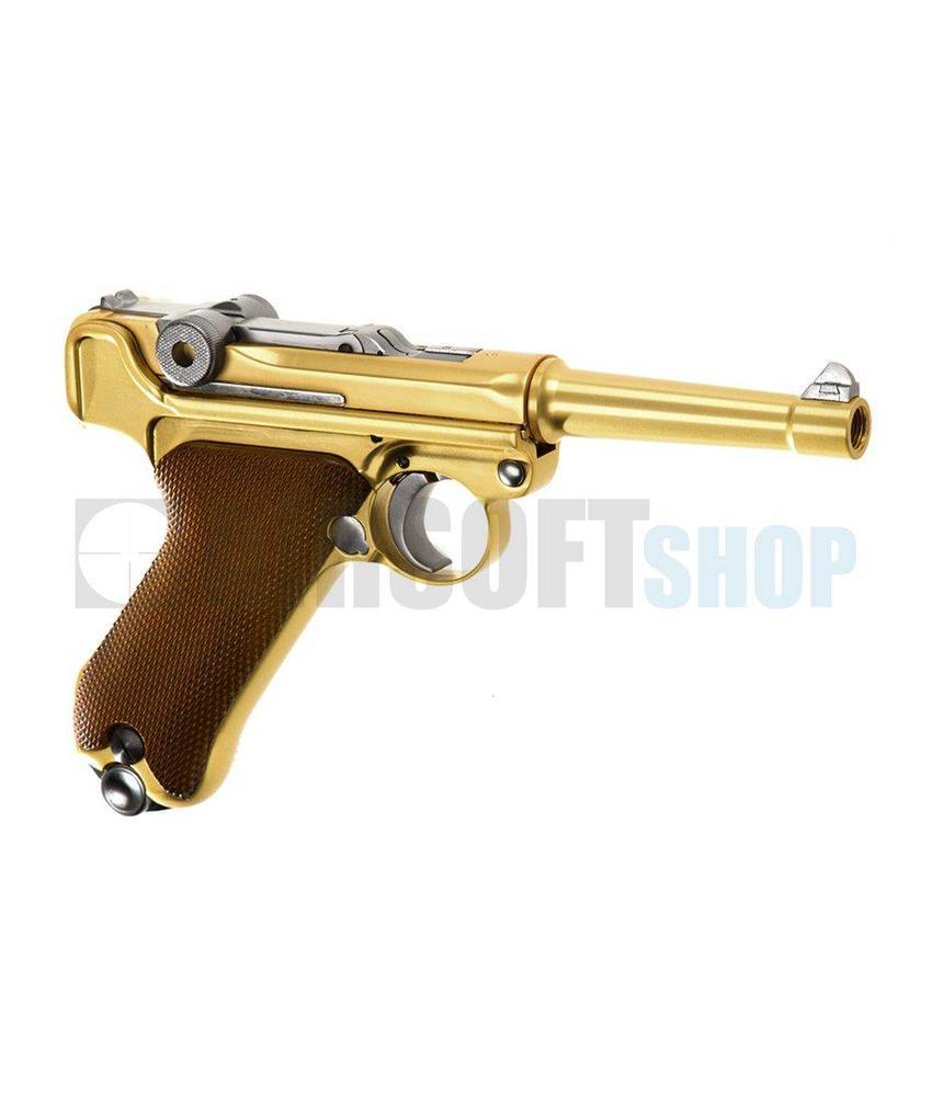 WE P08 Full Metal Gold GBB