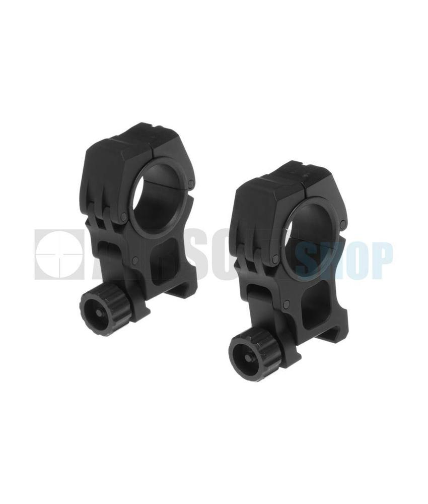 Aim-O M10 Mount Rings 25.4mm/30mm (Black)