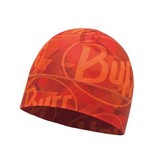 Buff Microfiber 1 Layer Hat Helix Logo Orange Muts