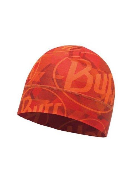 Buff Microfiber 1 Layer Hat Helix Logo Orange Muts