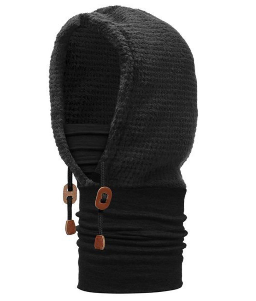 Buff Thermal Hoodie Solid Black
