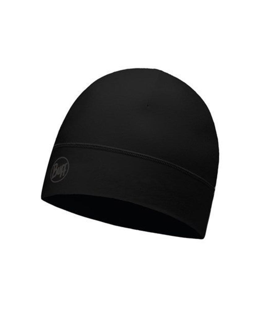 Buff Microfiber 1 Layer Hat Helix Solid Black Muts
