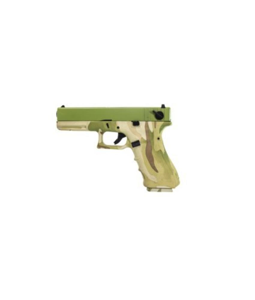 Raven EU17 GBB (Camo Frame + Green Slide)