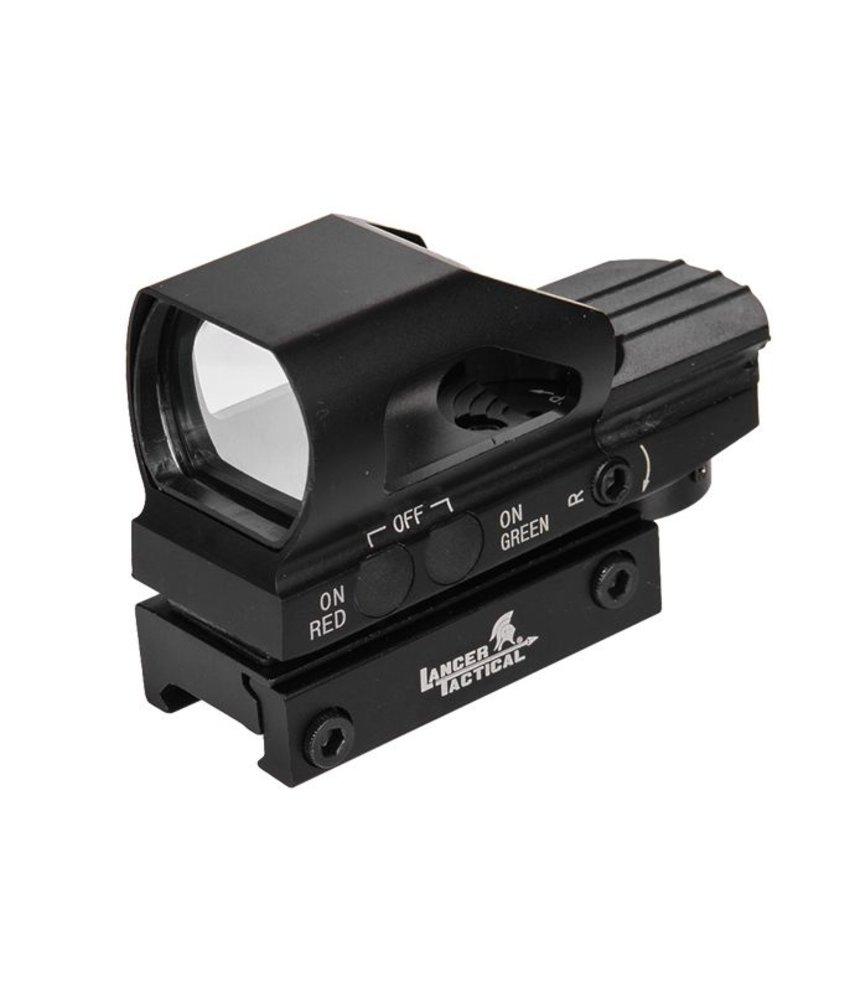 Lancer Tactical Reflex Sight Green / Red (Black)