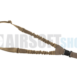 Claw Gear One Point Elastic Support Sling Snap Hook (Coyote)