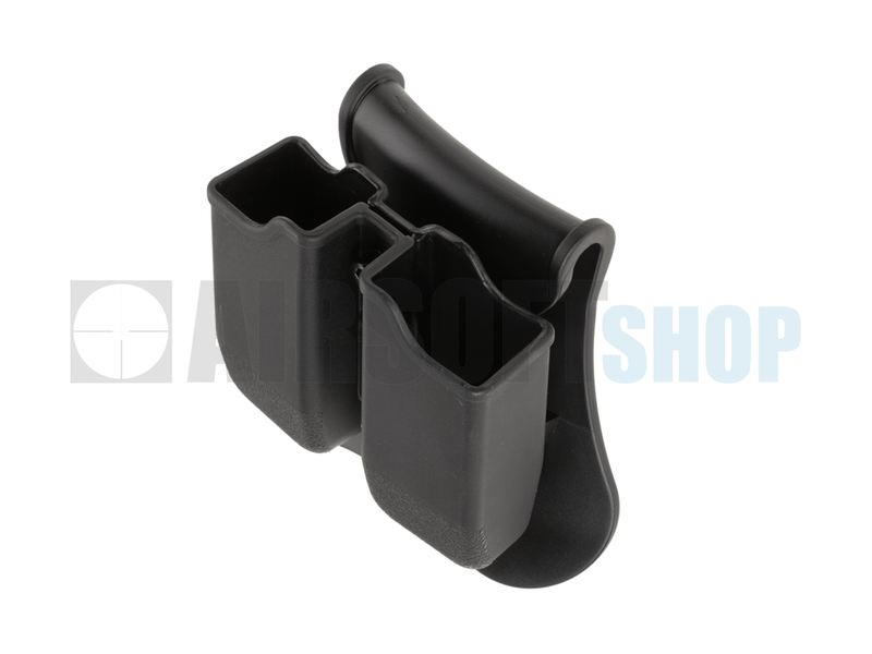 Amomax Double Mag Pouch for WE / KJW / TM 17/19 (Black)
