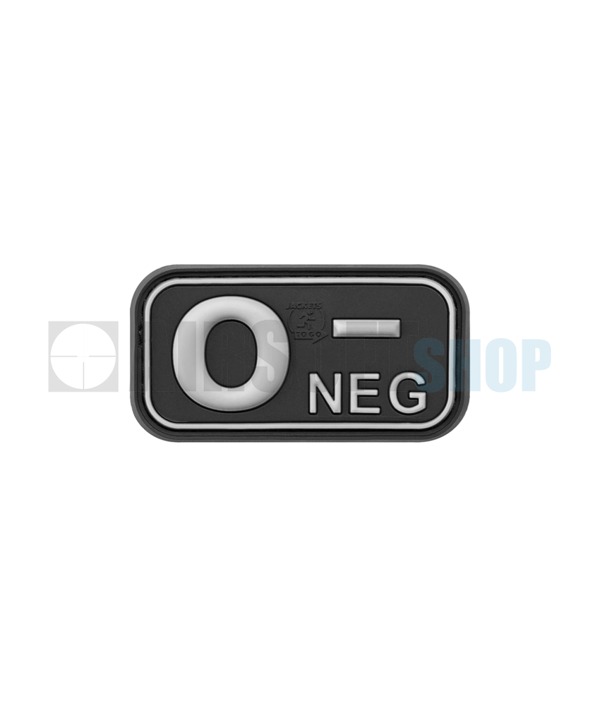 JTG Bloodtype Rubber Patch O NEG (SWAT)