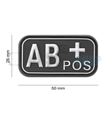 JTG Bloodtype Rubber Patch AB POS (SWAT)