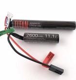 Titan Power 11.1V 2600mAh Li-Ion Battery (Nunchuck - Tamiya)